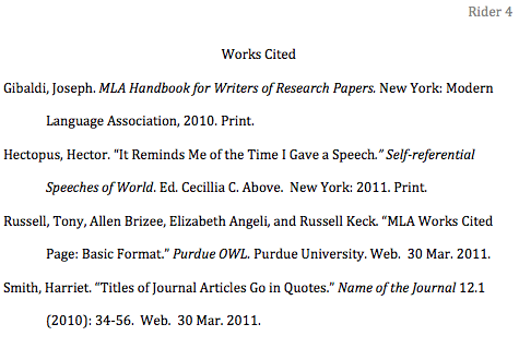 Citing a website in a research paper